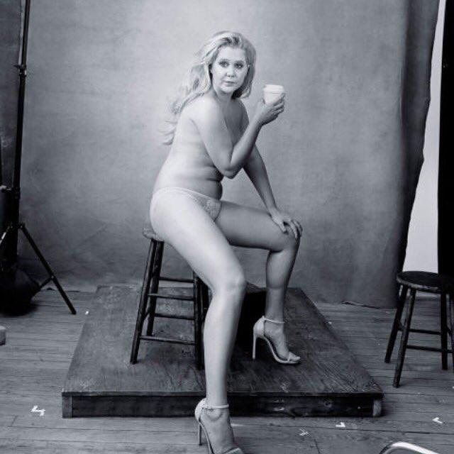 A few pounds over nudist women